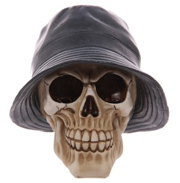 Egg N Chips London Gruesome Skull Rain Hat Ornament