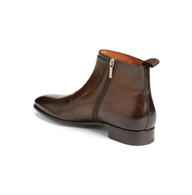 Handmade Men Brown Genuine Leather