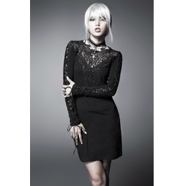 Punk Rave Vintage Floral Hollow Out Lace Dress Black Q 210