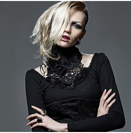 Women's Gothic Rose Asymmetric Lace Up Crochet Neckwear/Choker S 149