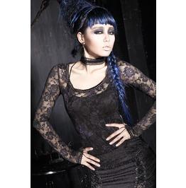 Punk Rave Women's Floral Sheer Lace Tops T 297