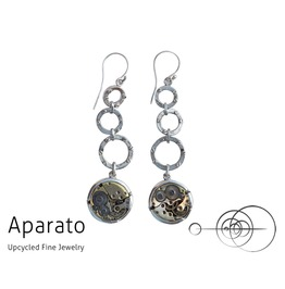 Steampunk Chandra Silver Earring