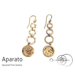 Steampunk Chandra 24 K Gold Plated Earring
