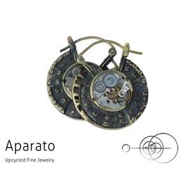 Steampunk Discos Brass Earring
