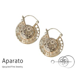 Steampunk Discos 24 K Gold Plated Earring