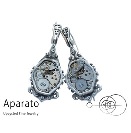 Steampunk Dristy Silver Earring