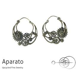 Steampunk Gear Brass Earring