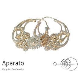 Steampunk Gear 24 K Gold Plated Earring
