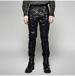 Punk Rave Men's Punk Straps Faux Leather Pants K 266