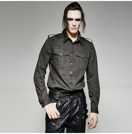 Punk Rave Men's Military Style Casual Shirt Y 715