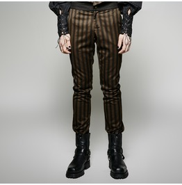 Punk Rave Men's Steampunk Striped Casual Pants K 271