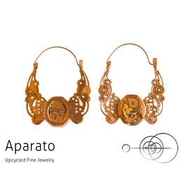 Steampunk Wingal 24 K Gold Plated Earring