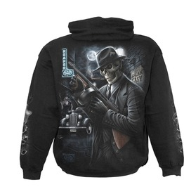 Men,S Black Gothic Heavy Metal Guns Punk Hoody