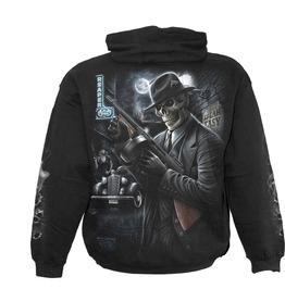 Men,S Black Gothic Heavy Metal Guns Punk Hoody