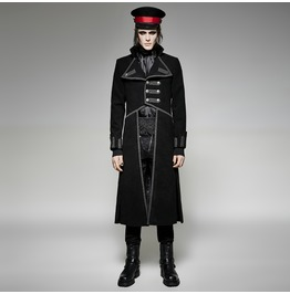 Punk Rave Men's Gothic Irregular Uniform Black/Red Y 713