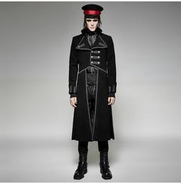 Punk Rave Men's Gothic Irregular Uniform Black/Red Y 713