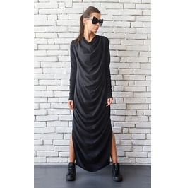Maxi Black Dress/Long Loose Dress/Plus Size Kaftan/Black Oversize Tunic