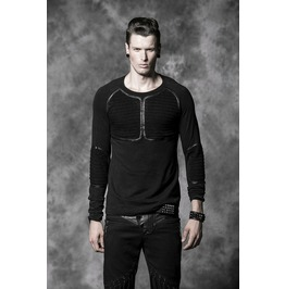 Punk Rave Men's Gothic Slim Fitted Long Sleeved Shirt Y 490