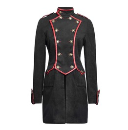 Women's Gothic Military Style Woolen Punk Rave Coat