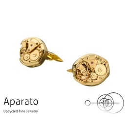 Steampunk Oval 24 K Gold Plated Cufflink