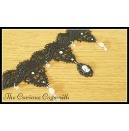 Lace Choker Gothic Cameo Necklace