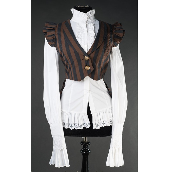 rebelsmarket_ladies_black_brown_striped_steampunk_waist_coat_vest_9_cheap_shipping_standard_tops_3.jpg