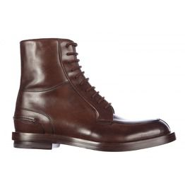 Handmade Men Dark Brown Lace Up Ankle Boot, Mens Boot, Welted Sole Boot