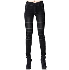 Dark Jeggings White Stitching