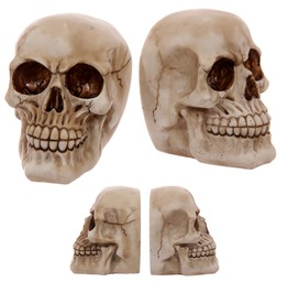 Egg N Chips London Gruesome Skull Pair Of Bookends Ornament