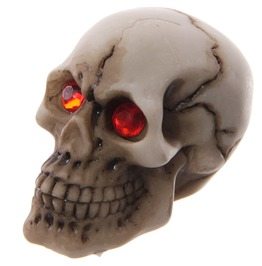 Egg N Chips London Novelty Red Eyed Skull Decoration