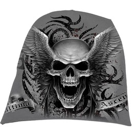 Spiral Beanie Hat Ski Hat Skull Wings