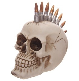 Egg N Chips London Funky Gruesome Bullet Mohican Skull Ornament