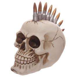 Egg N Chips London Funky Gruesome Bullet Mohican Skull Ornament