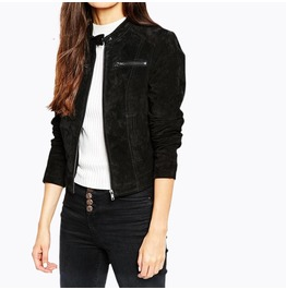 Women's Zipper Slim Fitted Bomber Jacket