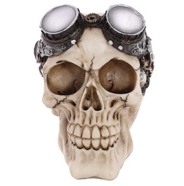 Egg N Chips London Gothic Steam Punk Skull Decoration With Goggles