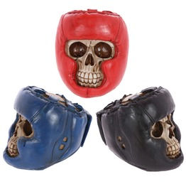 Egg N Chips London Gothic Skull Decoration With Boxing Helmet