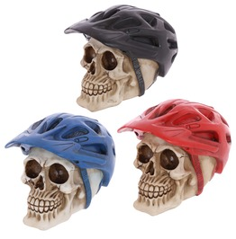 Egg N Chips London Gothic Skull Decoration Wearing Cycling Helmet