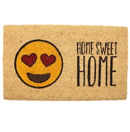 Egg N Chips London Emotive Coir Door Mat Home Sweet Home