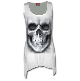 Spiral Vest Dress Top Solemn Skull Goth Bottom