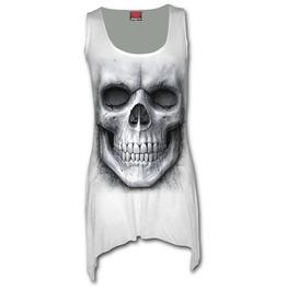 Spiral Vest Dress Top Solemn Skull Goth Bottom