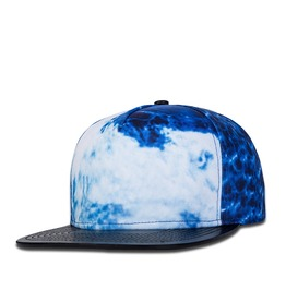 Hip Hop Blue 3 D Digital Ink Dancing Cap 570