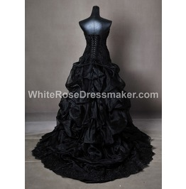 Gothic Wedding Dress Gown Made To Measure Handmade 4 To 8 Weeks Free Ship