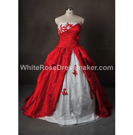 Gothic Wedding Dress Red Gown Made With Jacket Handmade Free Delivery!