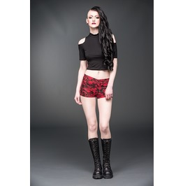 Red Hotpants With Black Skulls