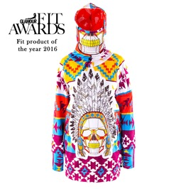 Softshell Navajo Snowboard / Ski Hoodie Jacket With Replaceable Mask