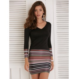 Long Sleeve Party Dress Evening Cocktail Casual Mini Dress