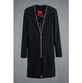 Back Incision Zip Detail Coat
