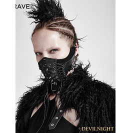 Black Gothic Punk Mask For Women