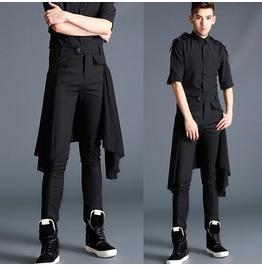 New Black Men Personalized Skinny Pants