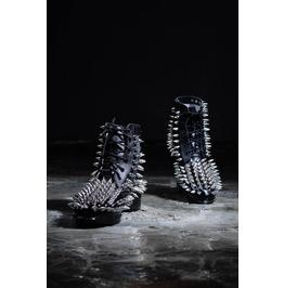 Men's Hedgehog Silver Stud Boots